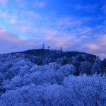 金剛山の冬景色(1月)