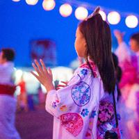 三日市小学校でワクワクする盆踊りが開催されます。