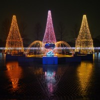 寺ケ池公園クリスマスイルミネーション