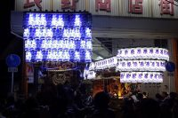 河内長野だんじり祭り「石坂」のぶん回しの画像と動画です。