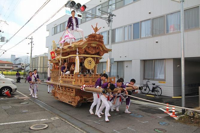 本日は河内長野だんじり祭りの最終日です!