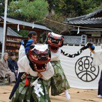 国指定重要無形民俗文化財に指定されている「伊勢神楽奉納」が住吉神社で行われました。