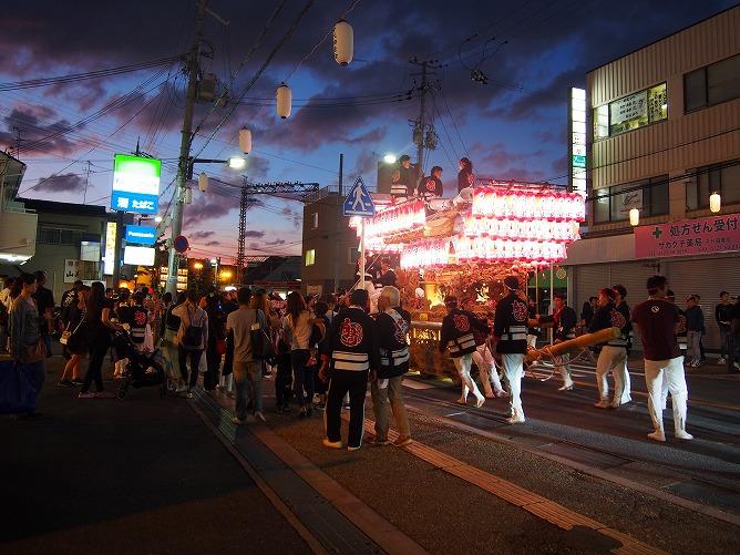 2018年10月6日河内長野だんじり祭り千代田駅前だんじりパレードです。