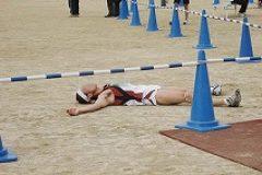全身全霊の力を使い果たし、ゴール直後に倒れるランナーも。ナイスランです!