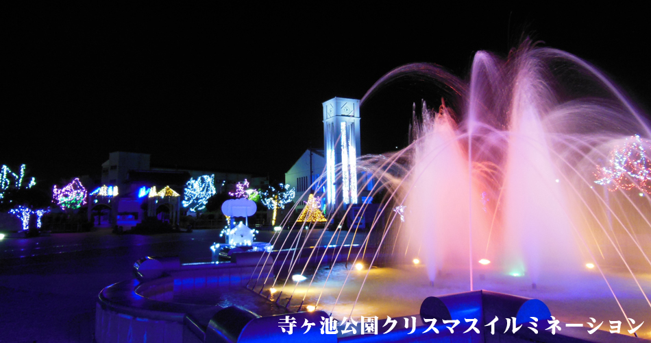 寺ヶ池公園クリスマスイルミネーション