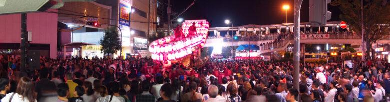 河内長野だんじり祭り各地区のぶん回しの画像と動画です【大量注意】。